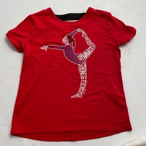 Justice red gymnast short sleeve t-shirt